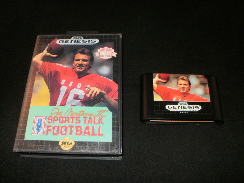 Joe Montana II Sports Talk Football - Sega Genesis - With Box