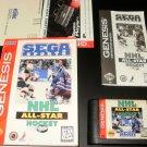 NHL All-Star Hockey 95 - Sega Genesis - Complete CIB