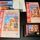 Genghis Khan II - Sega Genesis - Complete CIB - Rare