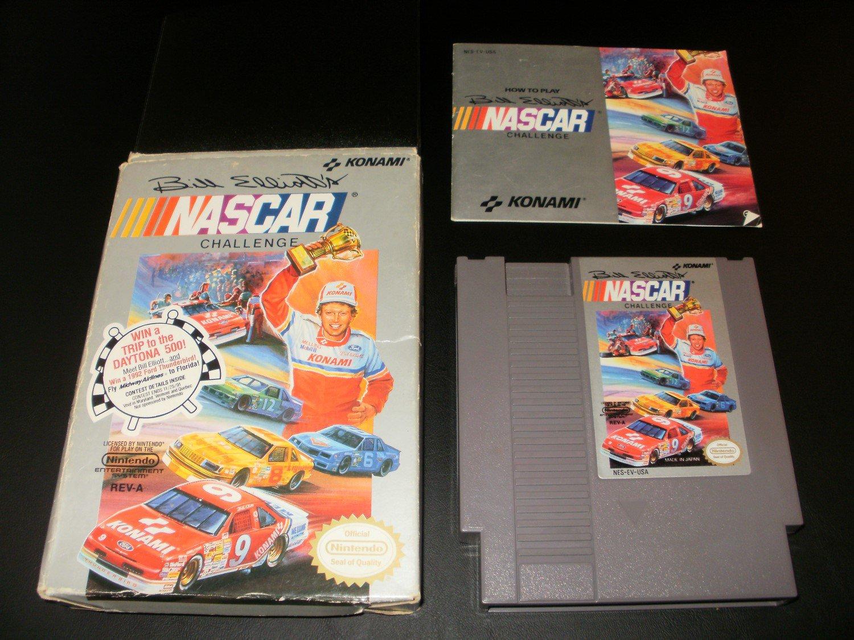 Bill Elliot's NASCAR Challenge - Nintendo NES - Complete CIB
