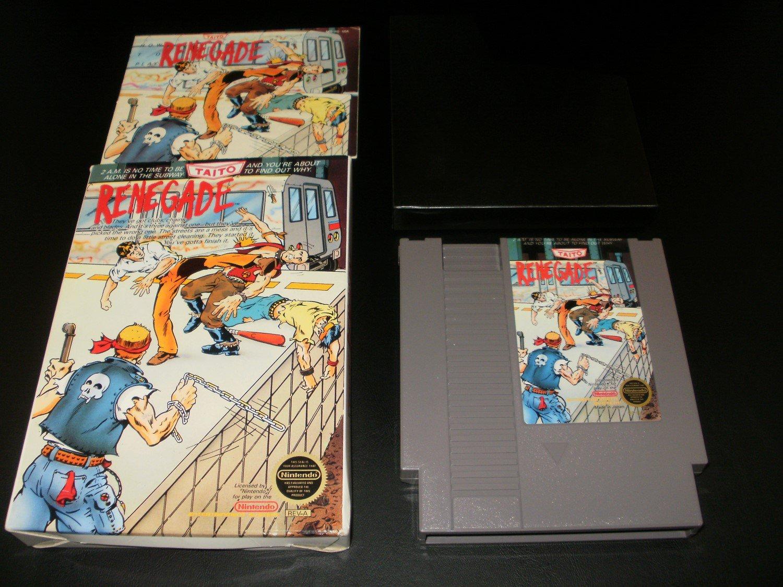 Renegade - Nintendo NES - Complete CIB - Round Seal 1988 Version