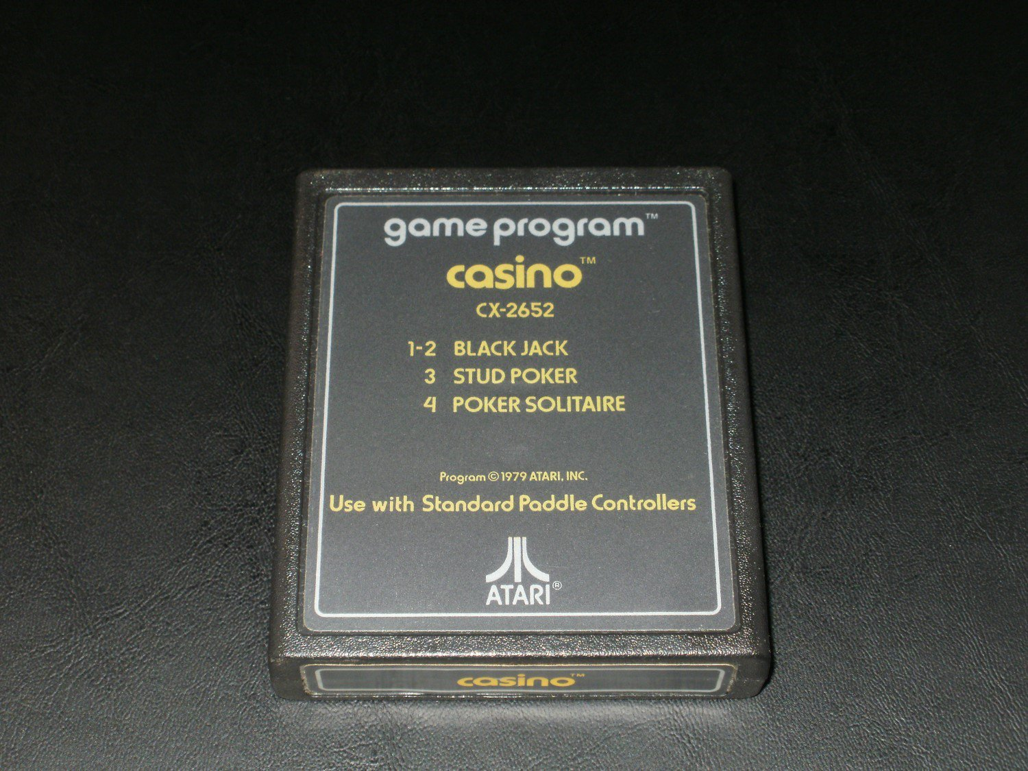 Casino - Atari 2600 - No Artwork Gold Label Version