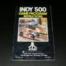 Indy 500 - Atari 2600 - Manual Only