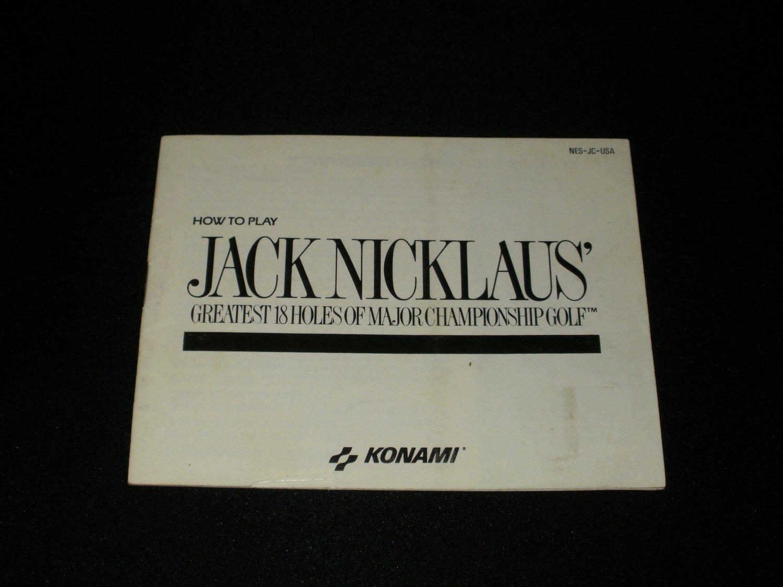 Jack Nicklaus Golf - Nintendo NES - Manual Only