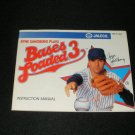 Bases Loaded 3 - Nintendo NES - Manual Only