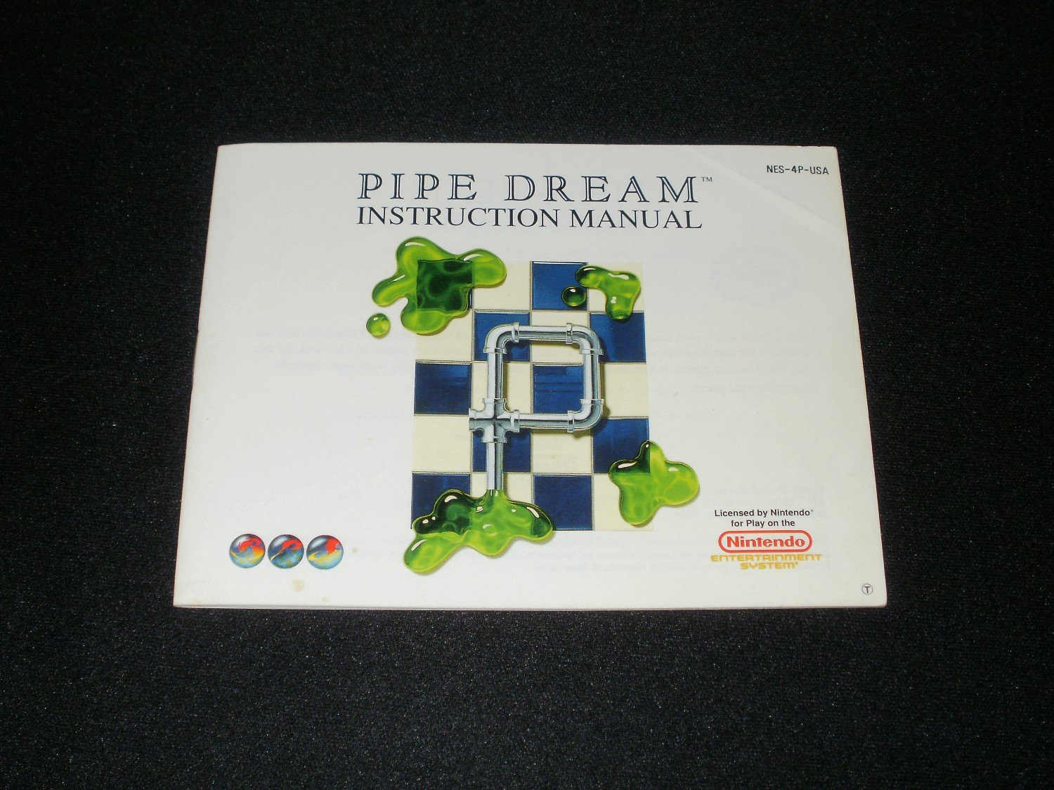 Pipe Dream - Nintendo NES - Manual Only