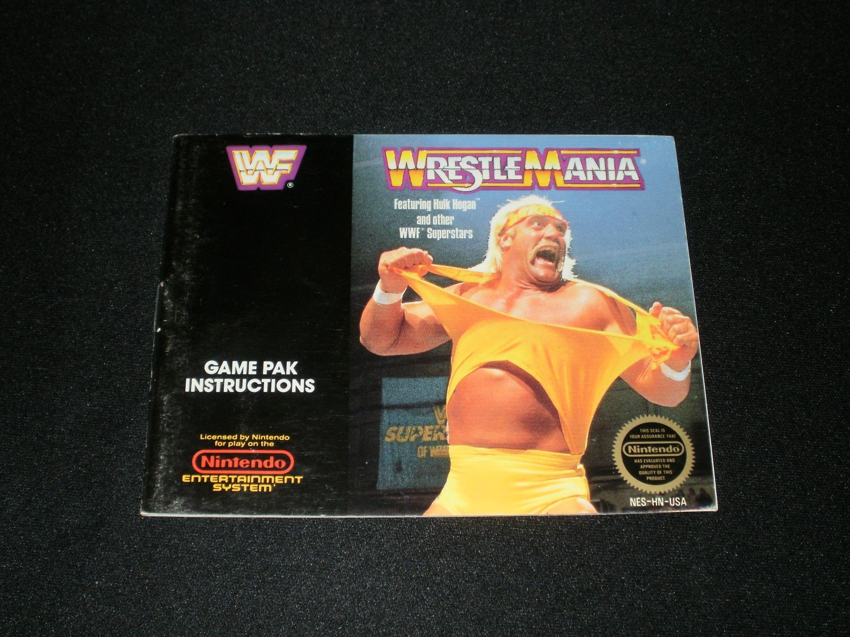 Wrestlemania - Nintendo NES - Manual Only
