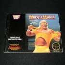 Wrestlemania - Nintendo NES - Manual Only