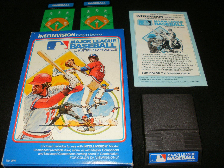 Major League Baseball - Mattel Intellivision - Complete CIB