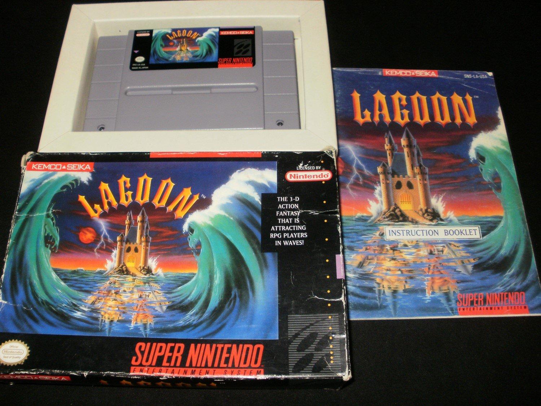 Lagoon - SNES Super Nintendo - Complete CIB