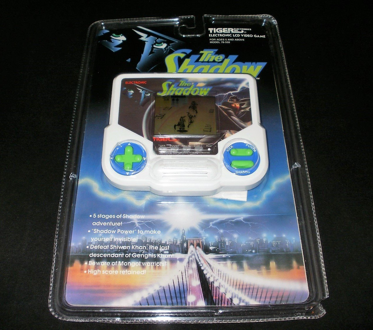 The Shadow - Vintage Handheld - Tiger Electronics 1993 - Brand New Factory Sealed