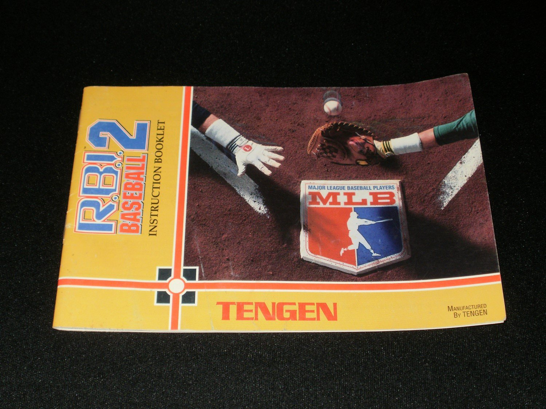 RBI Baseball 2 - Nintendo NES - Manual Only