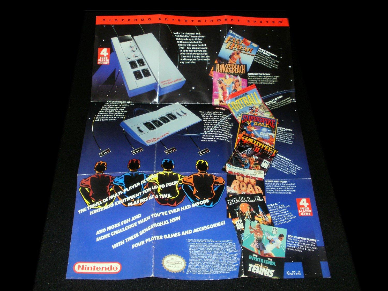 NES Satellite Poster - Nintendo 1989 - Never Used