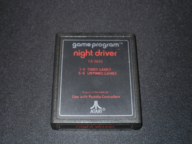 Night Driver - Atari 2600 - 1980 Text Label Release