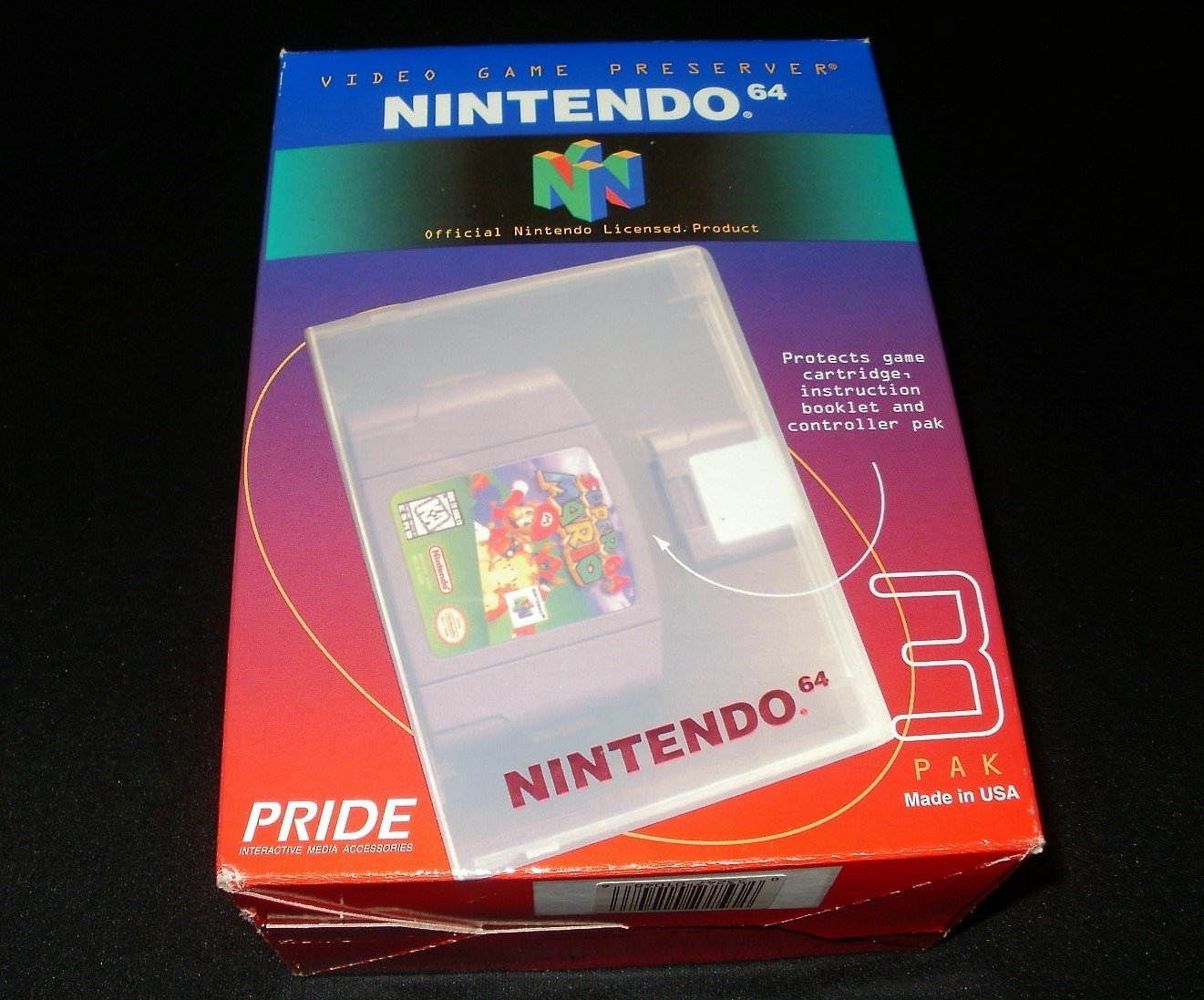 Video Game Preserver 3 Pak Blue - N64 Nintendo - Brand New Factory Sealed - Rare