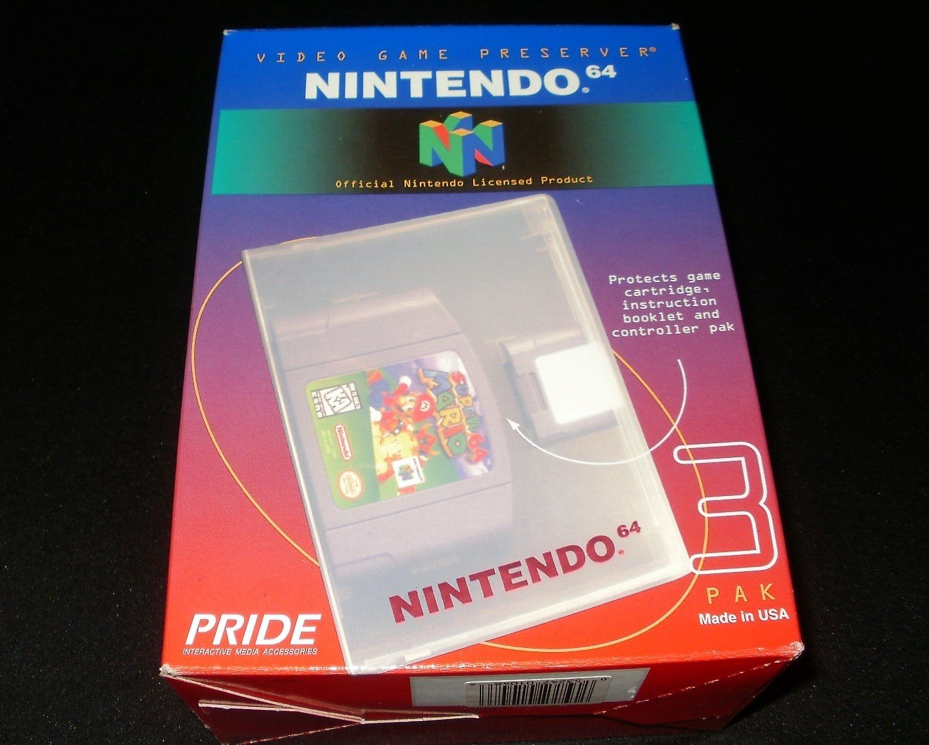 Video Game Preserver 3 Pak - N64 Nintendo - Officially Licensed Product - Blue - Rare