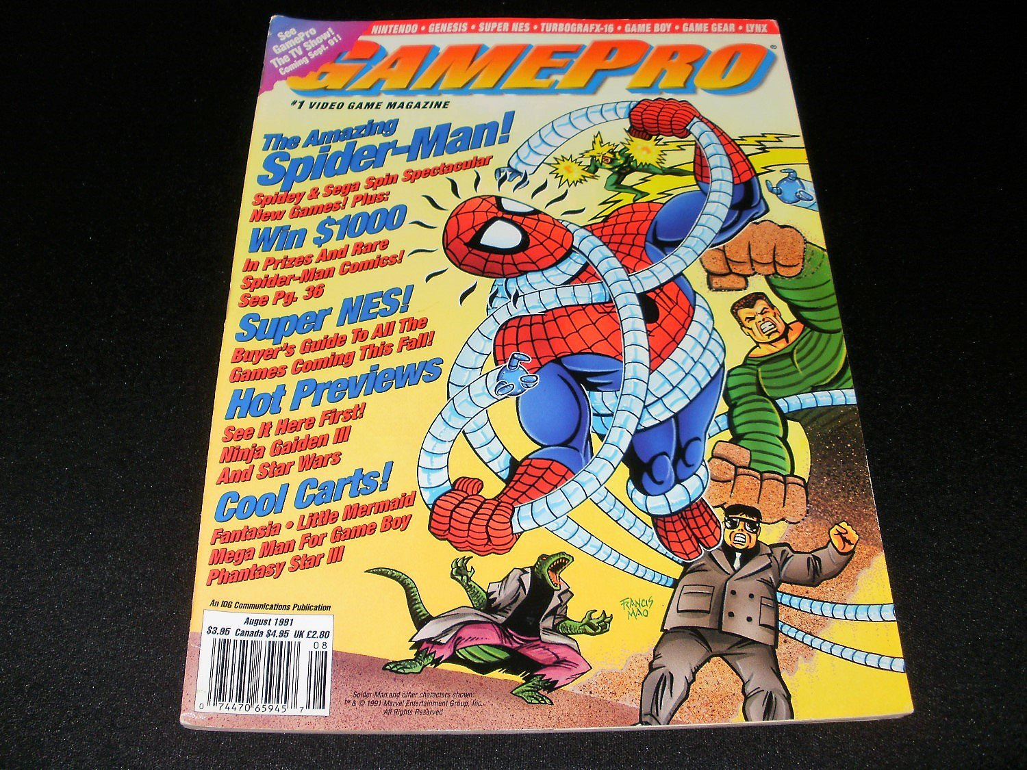 Gamepro Magazine - August 1991 - Spiderman
