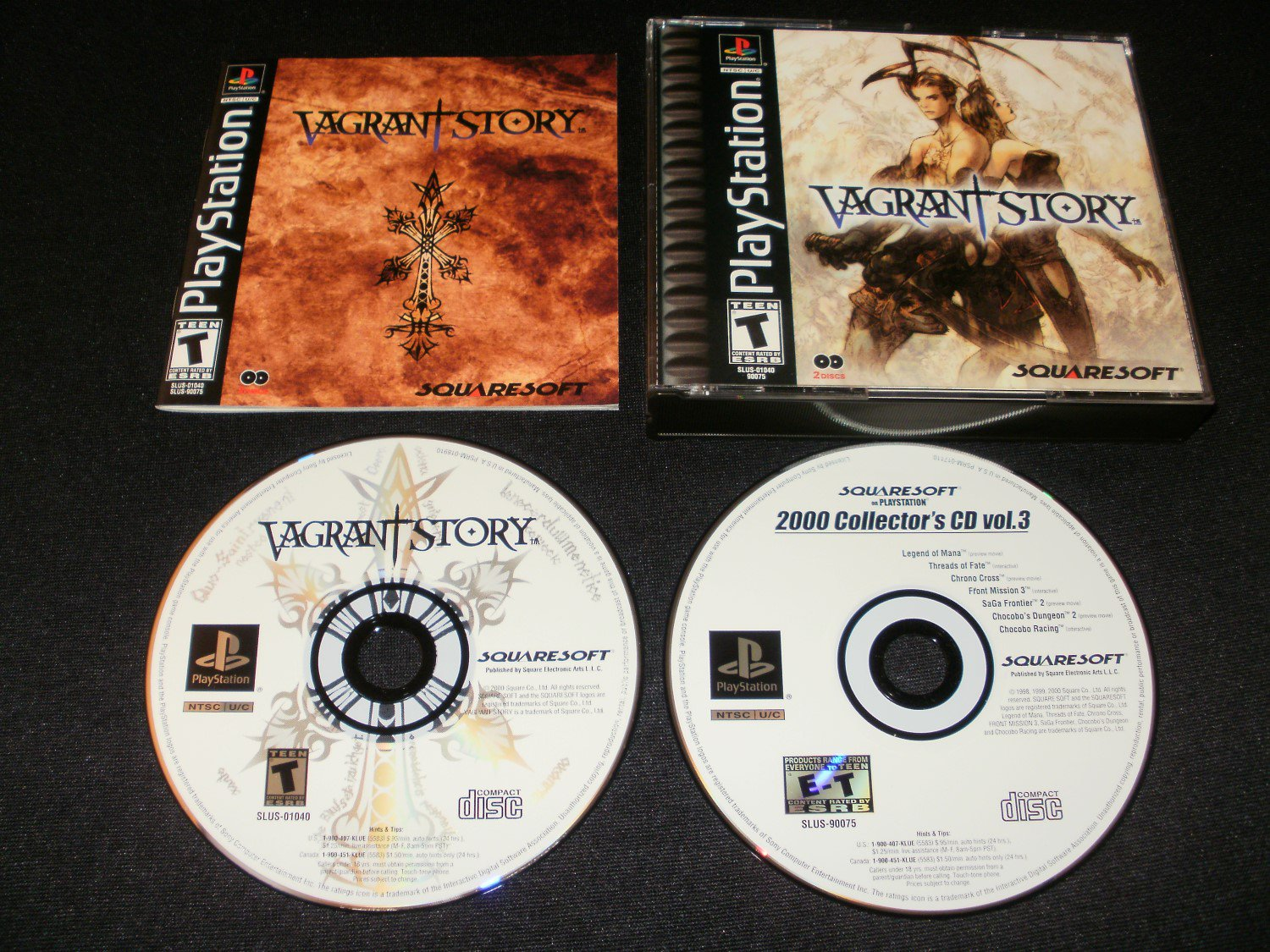 Vagrant Story - Sony PS1 - Complete CIB - Black Label 2000 Release