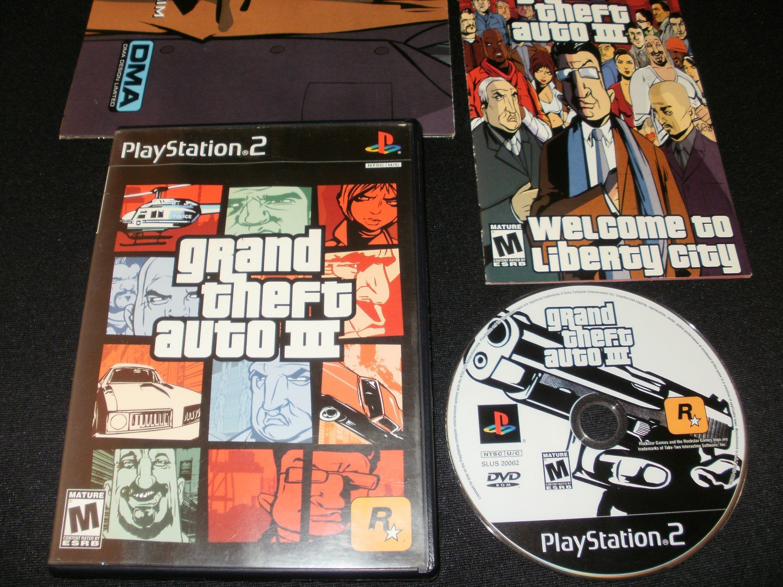 Grand Theft Auto III - Sony PS2 - Complete CIB - Black Label Original Release