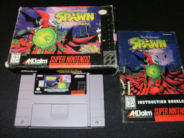 Spawn - SNES Super Nintendo - Complete CIB
