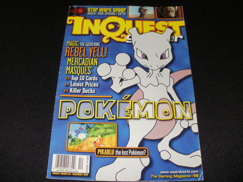 InQuest Gamer Magazine - December 1999 - Issue 56 - Pokemon Cover - Rare