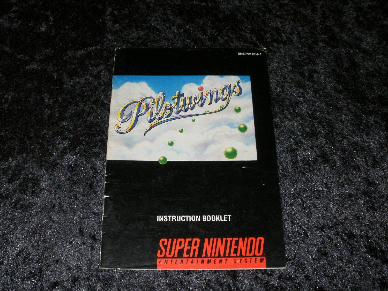 Pilotwings - SNES Super Nintendo - 1991 Manual Only