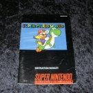 Super Mario World - SNES Super Nintendo - 1991 Manual Only