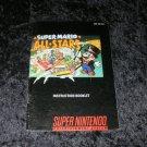 Super Mario All Stars - SNES Super Nintendo - Manual Only