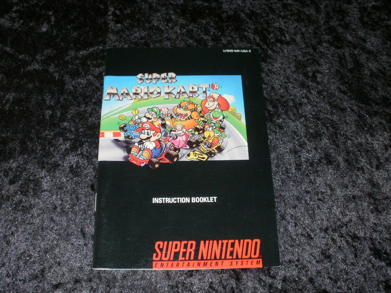 super mario kart snes super nintendo 1992 manual only rh gamegod767 ecrater com Mario Kart 1992 snes super mario kart instruction booklet