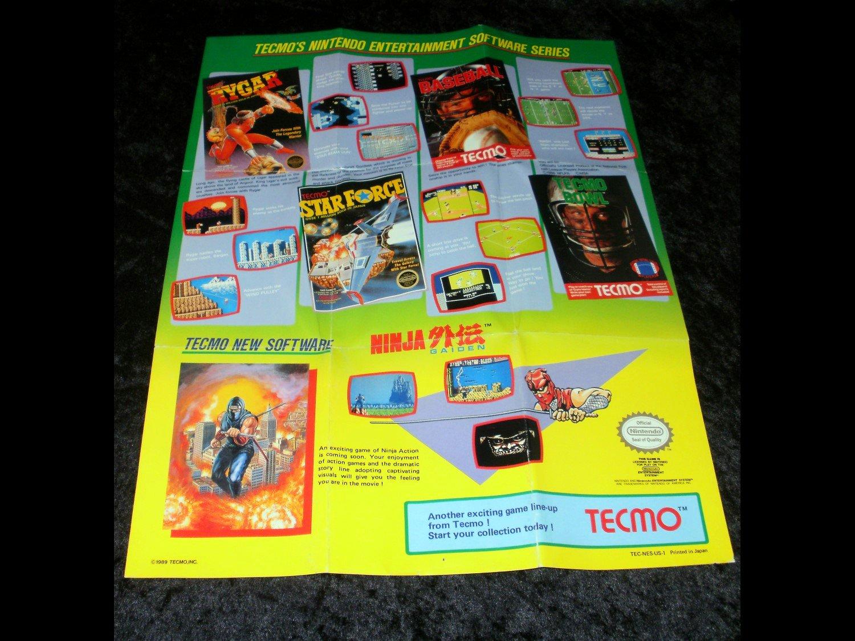 Nintendo Entertainment Software Series Poster - Tecmo 1989 Catalog
