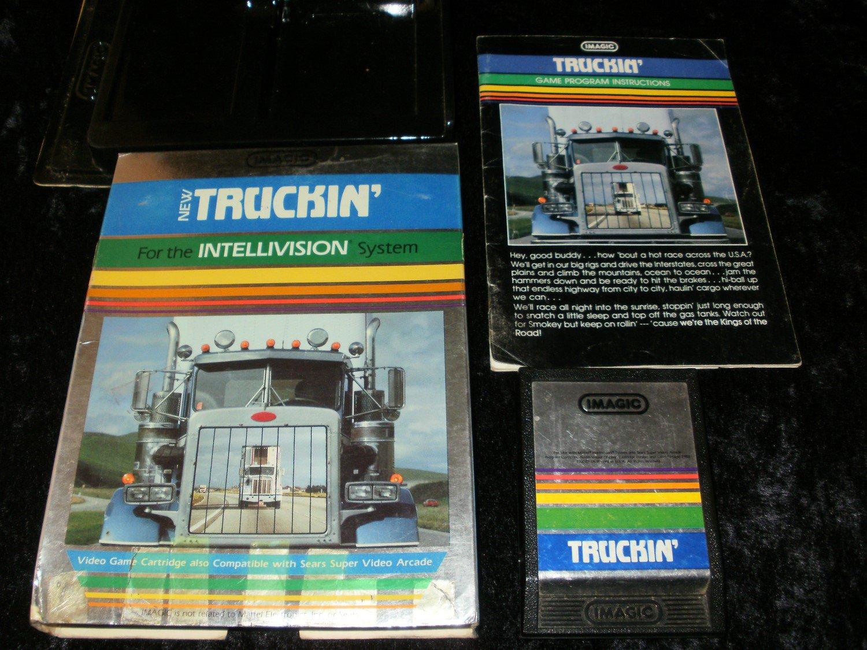 Truckin - Mattel Intellivision - With Manual & Box - Rare