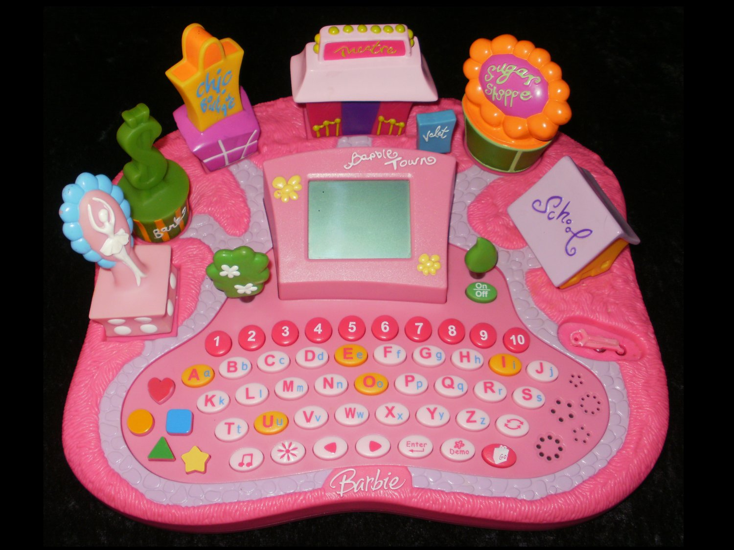Barbie Town Electronic Learning Keyboard - Tabletop - Oregon Scientific 2005 - Rare