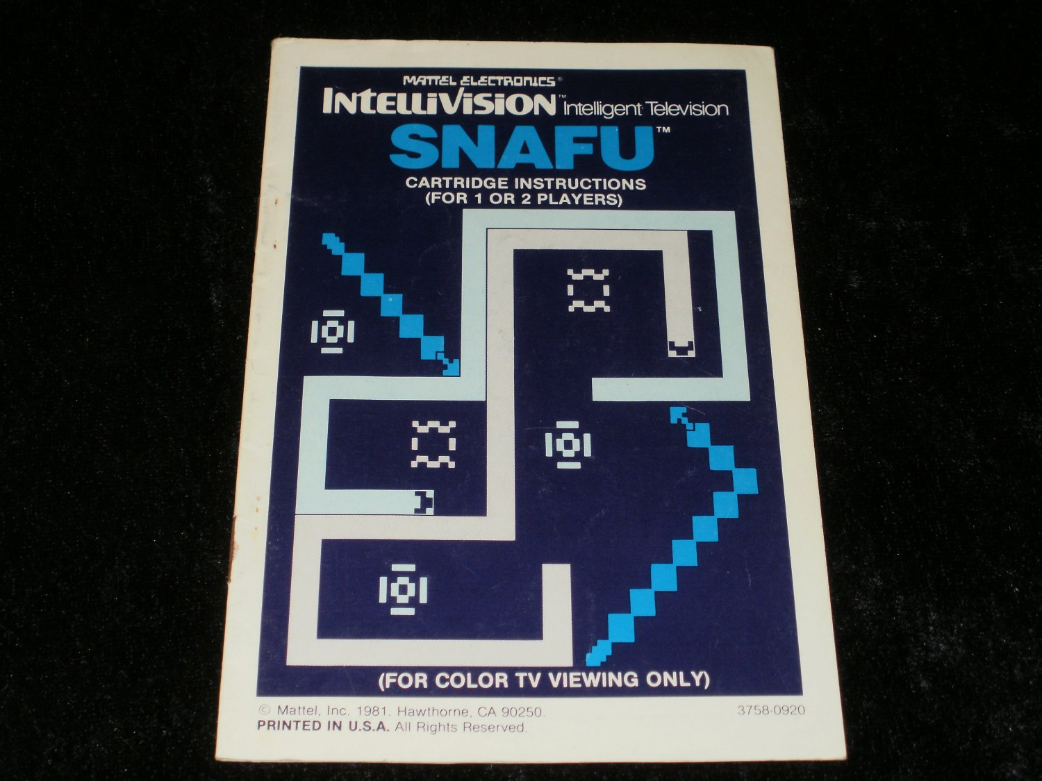 Snafu - Mattel Intellivision - Manual Only