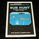 Sub Hunt - Mattel Intellivision - Manual Only