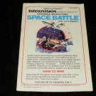 Space Battle - Mattel Intellivision - Manual Only