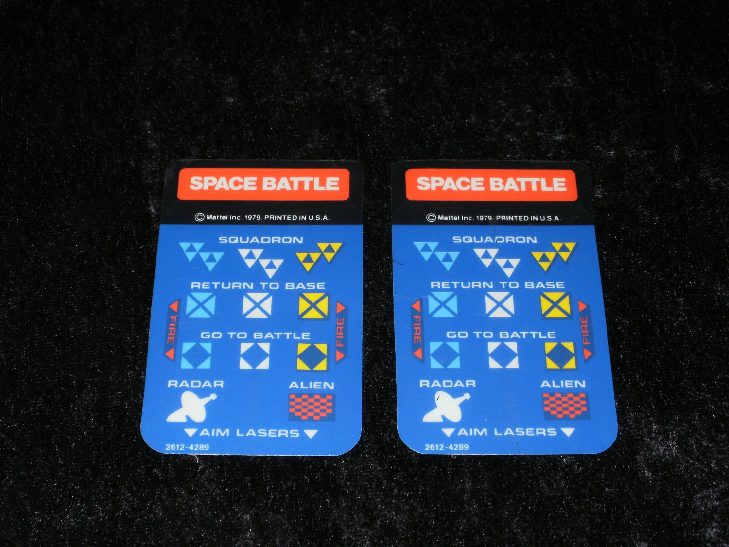 Space Battle - Mattel Intellivision - Controller Overlays Only