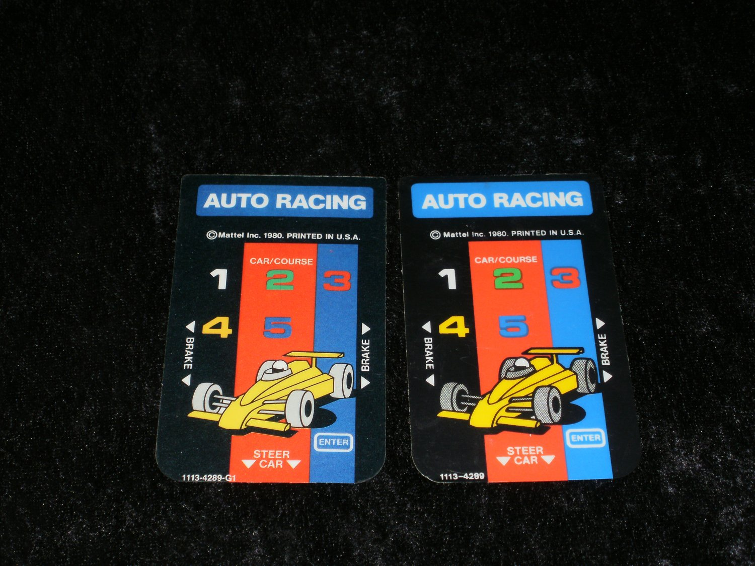 Auto Racing - Mattel Intellivision - Controller Overlays Only