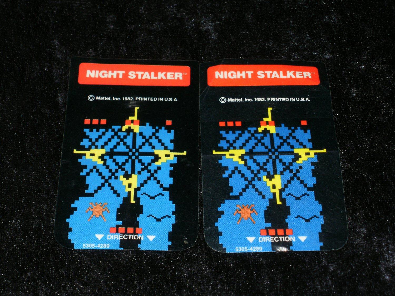 Night Stalker - Mattel Intellivision - Controller Overlays Only