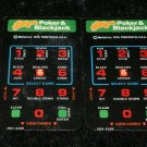 Las Vegas Poker & Blackjack - Mattel Intellivision - Controller Overlays Only