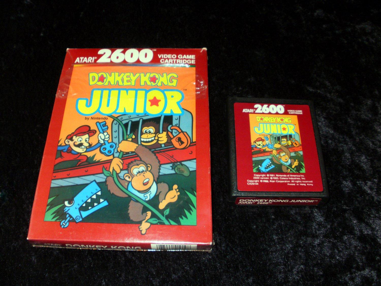 Donkey Kong Junior - Atari 2600 - With Box - 1988 Atari Version