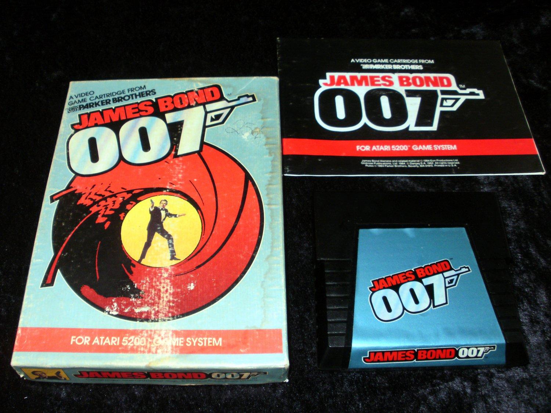 James Bond 007 - Atari 5200 - Complete CIB - Rare