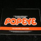 Popeye - Atari 5200 - Manual Only