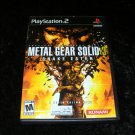 Metal Gear Solid 3 Snake Eater - Sony PS2 - Complete CIB
