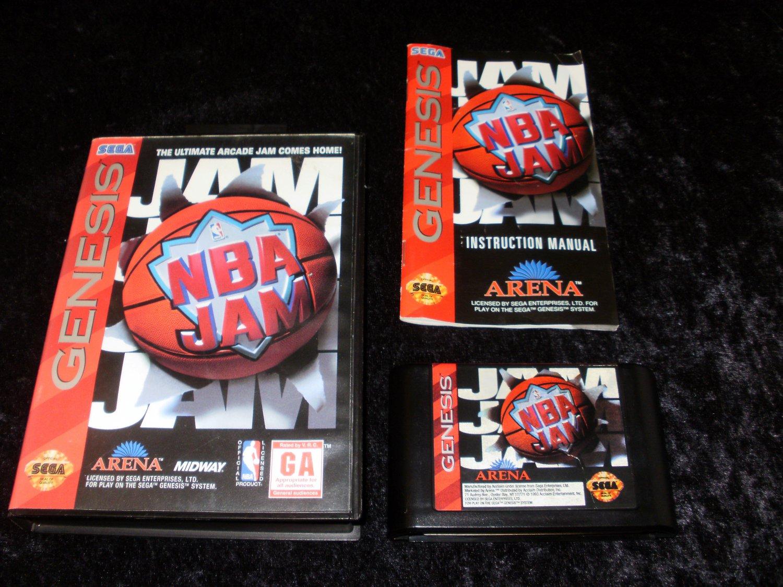 Nba Jam Sega Genesis Complete Cib