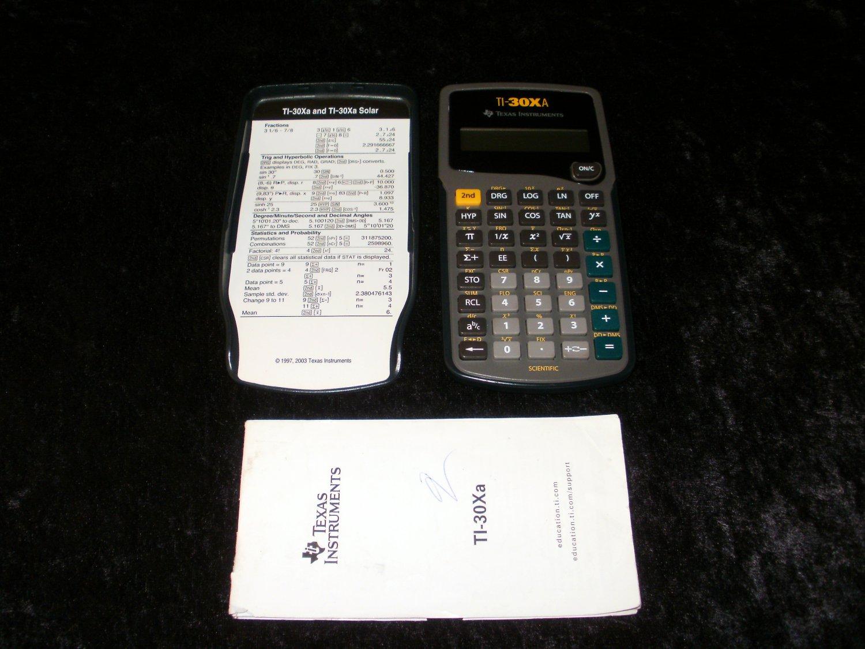TI-30XA Scientific Calculator - Texas Instruments - With Manual