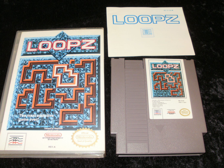 Loopz - Nintendo NES - Complete CIB