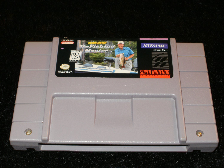 Mark Davis The Fishing Master - SNES Super Nintendo - Uncommon