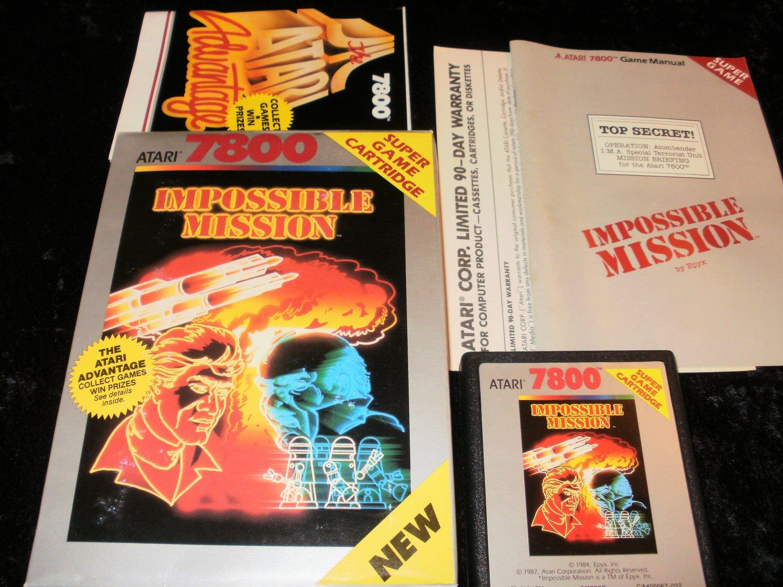 Impossible Mission - Atari 7800 - Complete CIB - Rare