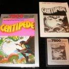 Centipede - Atari 7800 - Complete CIB - 1987 Rerelease Version