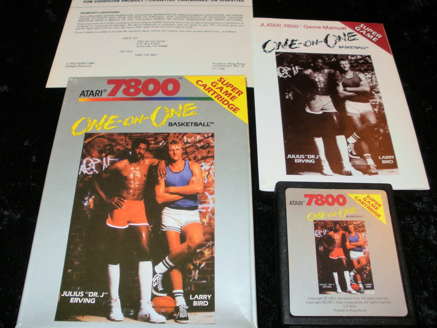 One-On-One Basketball - Atari 7800 - Complete